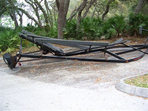 pontoon trailer and sail boat for sale!! - The Hull Truth