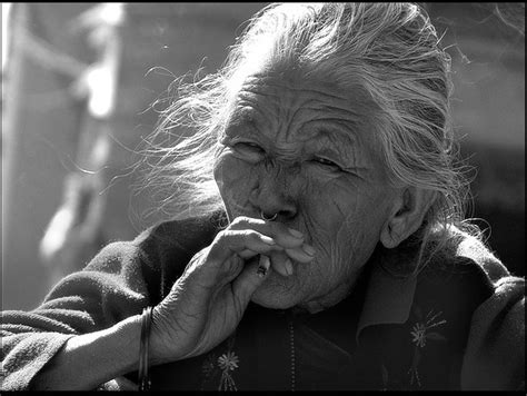 old lady from Patan(Nepal), smoking   Flickr - Photo Sharing!
