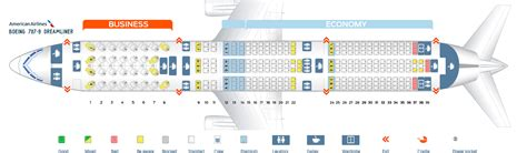 Seat map Boeing 787-9 American Airlines