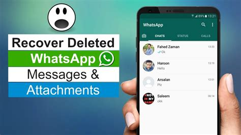 How to Recover Deleted WhatsApp Messages on Android - YouTube