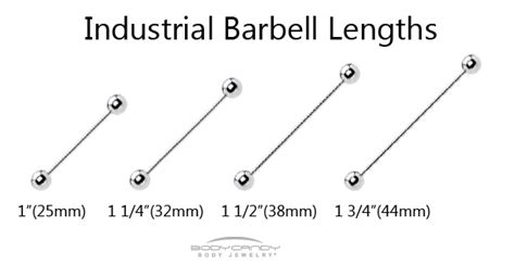 Industrial Barbell Lengths :: BodyCandy Body Jewelry Blog