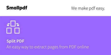 Split PDF - Extract pages from your PDF