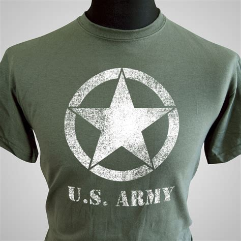 US Army Retro Forces T Shirt Vietnam WWII War Army Vintage