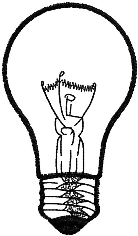 Light Bulb Picture Coloring Pages - Download & Print