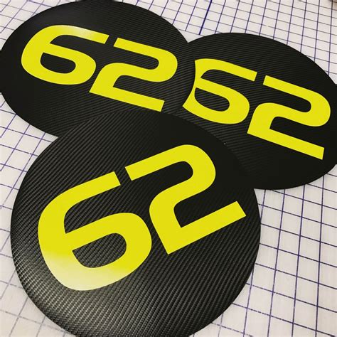 Vinyl Number Decal Roundels – TrackDecals