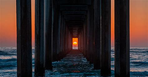 Twice A Year, The Sunset Aligns Perfectly With This Pier